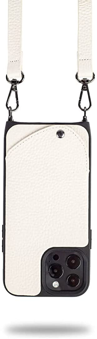 Noémie Napa Crossbody Case, Compatible with iPhone 13 Pro Max - Genuine Leather, Removable Strap, 3 Credit Card Holder