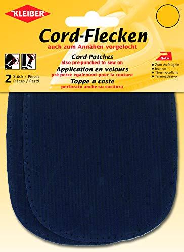 Kleiber + Co.GmbH Cord Flecken, Baumwolle, blau, 13,5 x 10 cm