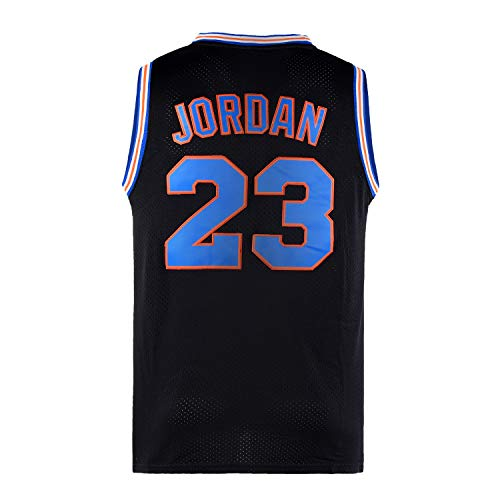 Lduk CL Youth Basketball Jersey Moive #23 Space Jam Shirts for Kids Black Size L