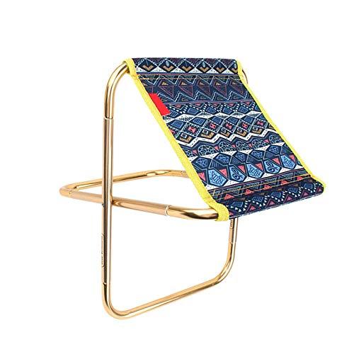 YuuHeeER Taburete plegable exterior para acampar al aire libre, viajes, multifunción, silla plegable de metal, 1 pieza
