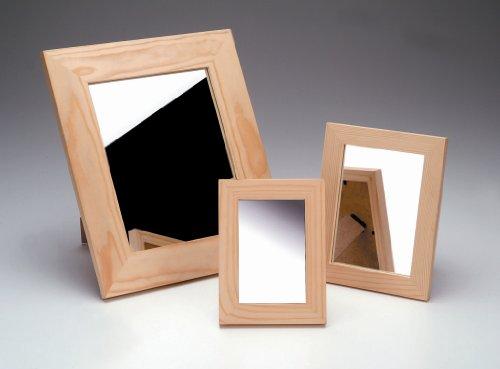 GLOREX spiegel houten lijst, FSC, hout en glas, natuur, 16,5 x 21,5 x 1 cm