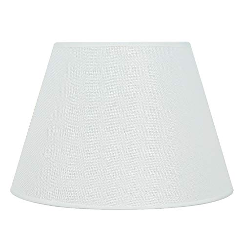 DULEE - Pantalla de lámpara de 24 a 40cm aprox. de lino, para E27, para lámpara de mesa o de pie, Blanco, Top:16cm x Height:18cm x Bottom:30cm