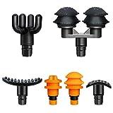 Massage Gun Heads - Muscle Massage Gun Head Replacement, 6 Pack Massage Gun Adapter, Deep Tissue Massage Gun Head Attachment