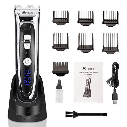 Haarschneidemaschine Set, elektrischer Haarschere abnehmbare Keramikklinge Herren Profi Haartrimmer mit 12 Zubehör für Friseursalon oder Zuhause (Das Ladegerät enthalten nicht)