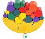 TOWO Juguete Apilador de Madera - Juego de Equilibrar la con los Bloques de Construcción para Aprender los Colores, a apilar y Contar - material montessori juego educativo rompecabezas