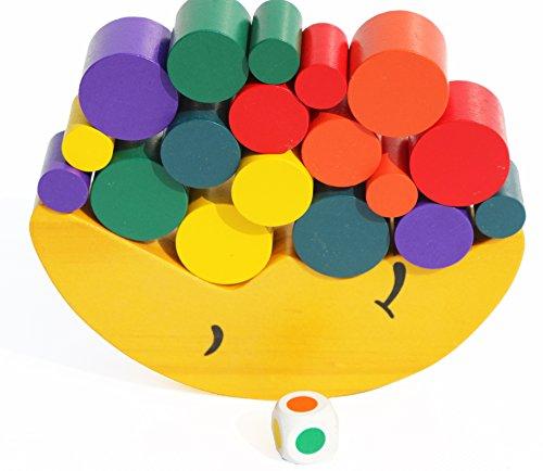 Toys of Wood Oxford Mond Motorikspielzeug aus Holz - 19-teiliges Konzentration- und Geschicklichkeitsspiel für Kinder