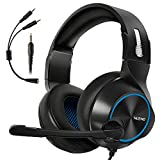 Gaming Headset for Xbox One, PS4, PC, Controller, ARKARTECH Noise Cancelling Over Ear Headphones with Mic,...
