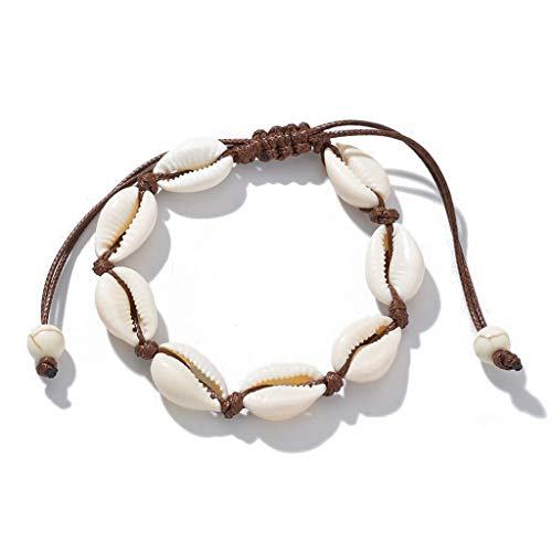 zhenzhen Natural Cowrie Beads Shell Pulsera para el Tobillo Hecho a Mano Hawaiian Beach Foot Jewelry