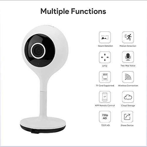 Mengen88 Wireless Smart Camera 1080P WiFi Ultra Claro con Soporte de micrófono de Dos vías Llamada de Voz//detección de Movimiento/Alarma para la Familia