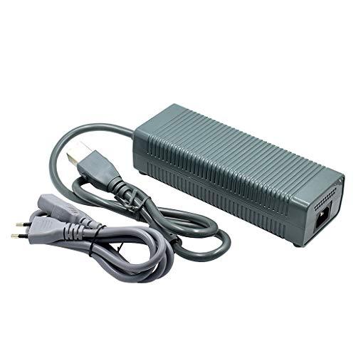 zrshygs Adaptador de CA Cargador Cable de Fuente de alimentación Cable para Consola Xbox 360 Fat CA