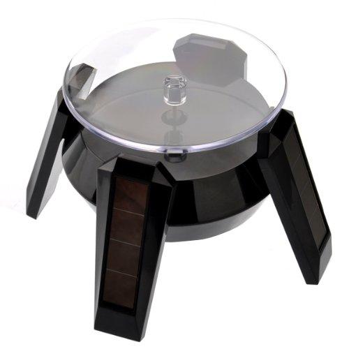 vorcool Verkaufsständer drehbar–Solar oder Akku AA Rampenlicht (schwarz)