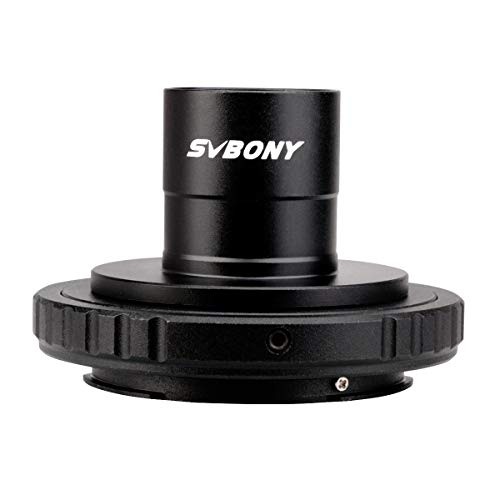 Svbony SV124 Adaptador Camara Telescopio 0.965' Adaptador T2 y Tubo Extensión Anillo T Compatible con Nikon
