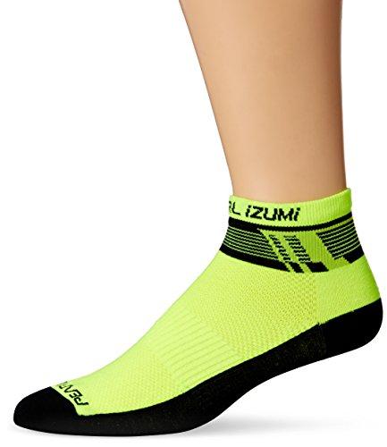Pearl iZUMi Men's Elite Low Socks, Ascend Screaming Yellow, Large
