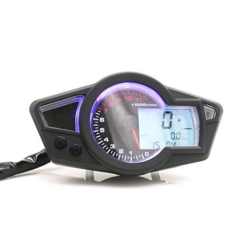 Universal Motorrad Kmh/Mph LCD Digital Tacho Tachometer Kilometerzähler Tachometer Cafe Racer