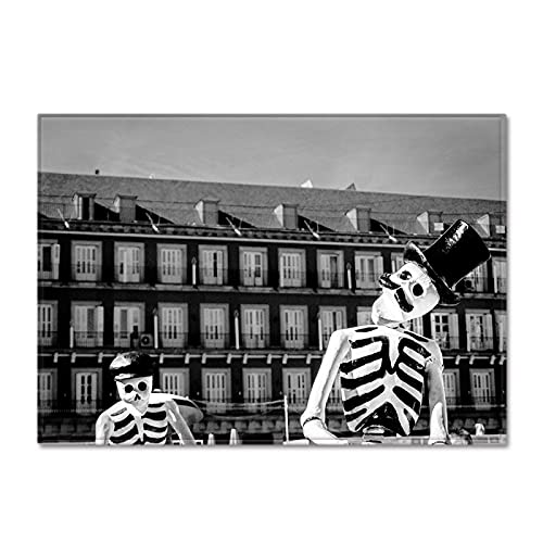 YDyun Dormitorio Sala de Estar Antideslizante Alfombra de la para el Juego de los niños Decora el Alfombrilla de salón Skull para Dormitorio y Comedor