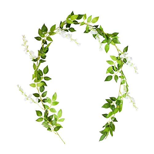 Artificial Plants DIY Floral Wall Accessories For Party Decorations 180cm Wisteria Artificial Flowers Wedding Arch Hanging Flower Ivy Vine Garland (Color : T01)