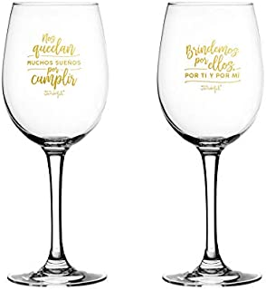 Mr. Wonderful Set de 2 Copas de Vino para Novios: Nos quedan