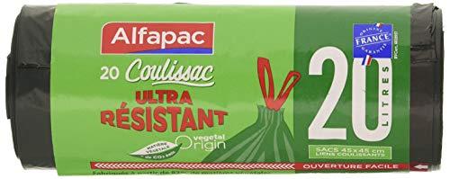 ALFAPAC - Bolsas de basura ultra resistentes 20L, 45 x 45 cm