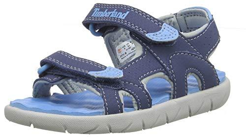 Timberland Perkins Row 2-Strap (Toddler), Sandalias de Punta Descubierta Unisex-Niños, Azul Dark Blue, 29 EU