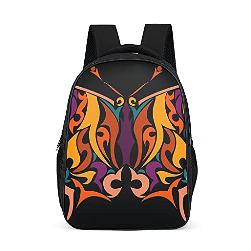 Mochila unisex para niños con diseño de mariposas