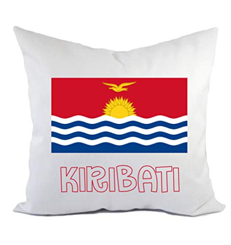 Typolitografie Ghisleri Kissen Kiribati Flagge Kissenbezug & Füllung 40 x 40 cm aus Polyester