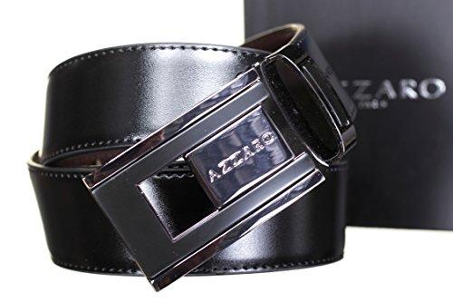 AZZARO - Ceinture Large 91136 Reversible Noir/Marron - Couleur Noir - Taille Ajustable