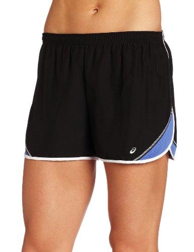 ASICS Damen Split Short 7,6 cm, Damen, Black/Berry, Large