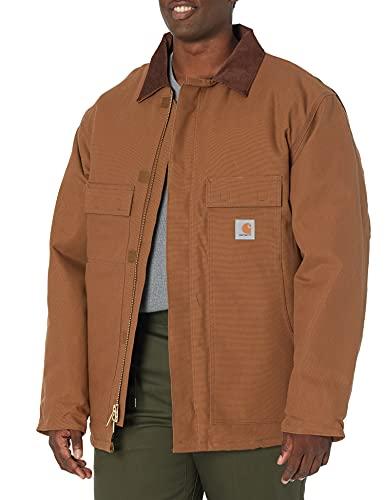 Carhartt Men's Arctic Quilt Lined Duck Traditional Coat C003,Brown,Medium