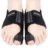 Bunion Corrector KarmaRebirth Bunion Splint Adjustable Bunion Relief Brace,Big Toe Straightener Brace Corrector Hammer Toes Splints for Hallux Valgus Toe Joint Pain Relief for Men and Women (Black)