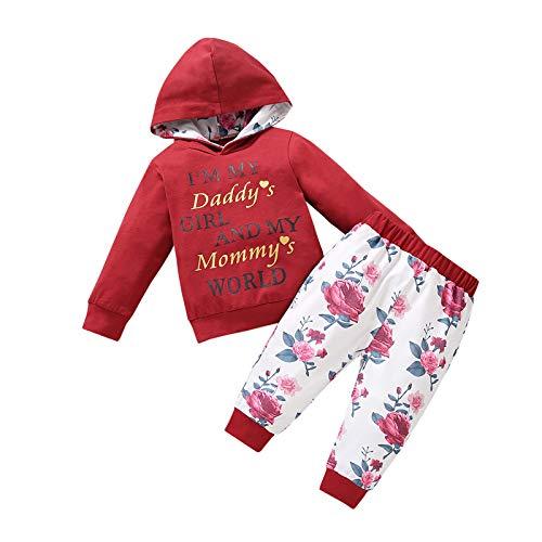 AILIEE Mädchen Kleidung Baby Kind Lange Ärmel Brief Drucken Mit Kapuze Sweatshirt...