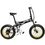 LANKELEISI X2000 20 Pollici Bici da Pieghevole Bicicletta elettrica 7 velocità Bici da Neve 48v...