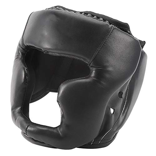 Ponacat Box-Kopfbedeckung für Erwachsene/Kinder, professionelle PU-Leder Kopfschutz Sparring Stoßfest Helm für Boxen, MMA, Kickboxen, Muay Thai