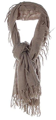 Barbara Becker Damen Schal Strickschal Knit Scarf Taupe OS