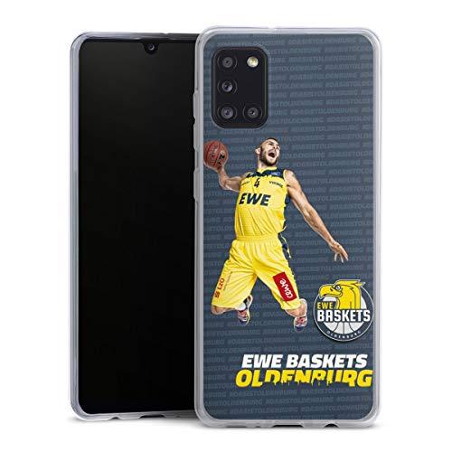 DeinDesign Slim Hülle extra dünn kompatibel mit Samsung Galaxy A31 Silikon Handyhülle transparent Hülle Basketball Sport Ewe Baskets