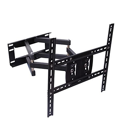 Soporte de Pared para TV Full Motion: para la mayoría de televisores OLED 4K LCD LED curvos Planos de 32-60 Pulgadas hasta 65 kg MAX VESA 400x400mm, Giro 90 ° e inclinación ± 15 °