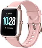 Smart Watch for Android/Samsung/iPhone, Activity Fitness Tracker with IP68 Waterproof for Men Women & Kids, Smartwatch with 1.3' Full-Touch Color Screen, Heart Rate & Sleep Monitor, Pink