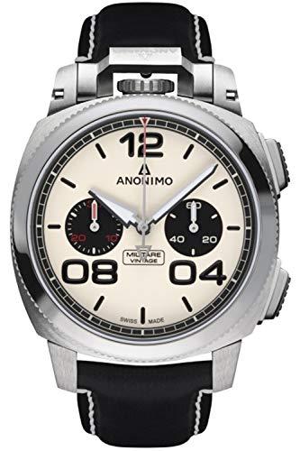 Anonimo militare orologio Uomo Analogico Automatico con cinturino in Pelle di vitello AM112201001A01
