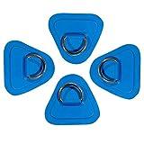 Qhome Anillo en D de acero inoxidable, 4 unidades, anillo en D, anillo de acero inoxidable, anillo de almohadilla para lancha hinchable, para canoa, kayak, etc.