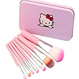 Children Makeup Brushes, 7Pcs Makeup Brush Set Foundation Eyebrow Eyeliner Brush Cosmetic Concealer Brushes...