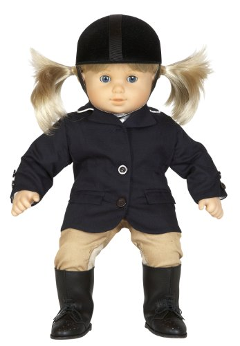 Equestrian Outifit with Riding Boots and Helmet Fits 15 inch Dolls Like Bitty Baby, Bitty Twins and Similar Sized Dolls