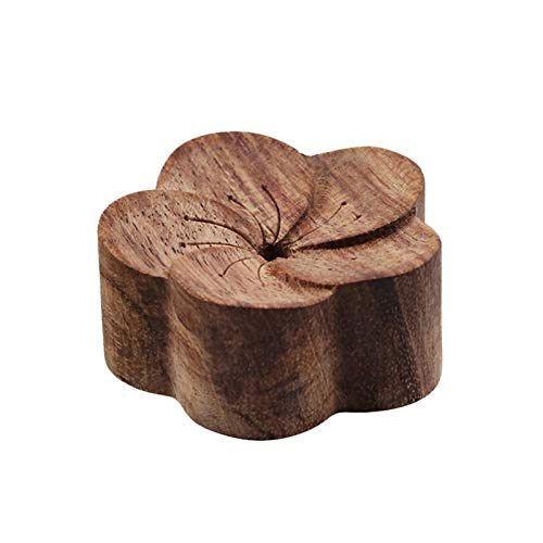 LAIYYI 1 st Bloem Vorm Natuurlijke Log Aromatherapie Diffuser, Houten Aromatherapie Diffuser Mini etherische olie Diffused Hout 8 * 8 * 3 Rozenhout