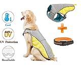 Vivi Bear Chaleco de Malla para Perros Diseño Reflectante Transpirable Resistente al Sol Ajustable Fácil de Usar Chaleco de enfriamiento para Perros Traje para Caminar,Hacer Ejercicio,Escalar