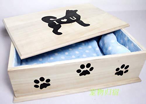 Winpavo Caja funeraria Pet Ataúd Perro Ataúd Gato Ataúd Gato Perro Urna Caja Mascota Suministros Funerarios, J