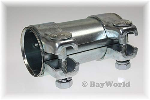 BayWorld Auspuff Universal Rohrverbinder 52x56,5x125mm Doppelschelle 52x125mm