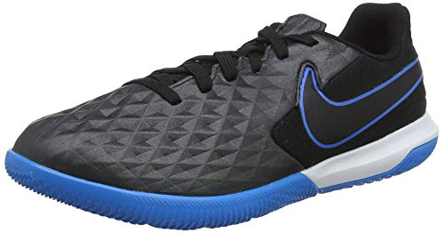 Nike Legend 8 Academy IC, Zapatillas de Fútbol, Negro (Black/Black/Blue Hero 004), 28.5 EU