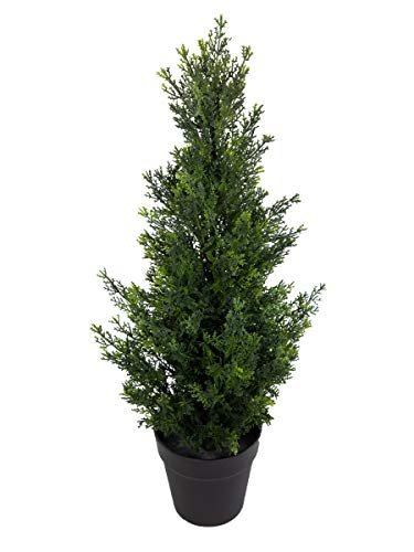 Zeder / Konifere Natura 60cm LA künstliche Pflanzen Baum Kunstpflanzen Kunstbaum Thuja Zypresse