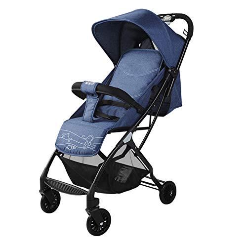 Wp.bewa Komfortable Kinderwagen Für Ihr Kind Mit Riesigem Einkaufskorb,Faltbarem Kinderwagenaufsatz Für Neugeborene Für Babys & Kleinkinder Bis 0-3 Jahre(Blau)
