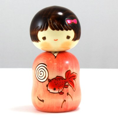 "Kokeshi-Figur ""Ochame"" UK-9-14, original aus Japan"