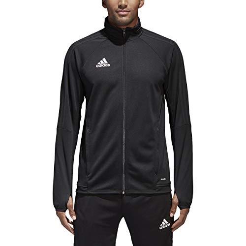 adidas Tiro 17 Mens Soccer Training Jacket XS Black/White