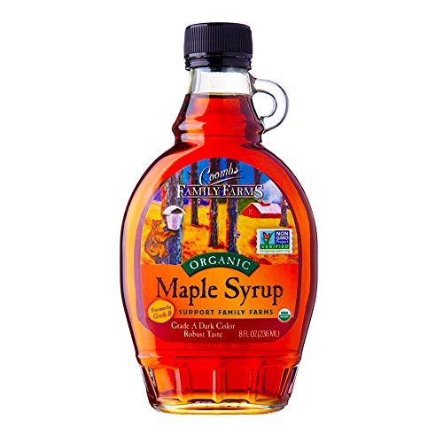 pure maple syrups Coombs Family Farms 100% Pure Organic Maple Syrup Grade A Amber Rich, 8 Fl Oz